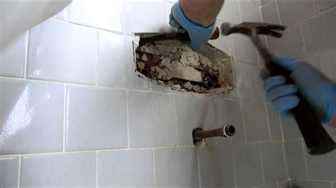 tub  shower valve replaced  tile wall youtube