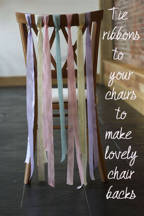 Ribbons For Wedding Chairs ~ Wedding Decoration Of The