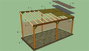How to Build Attached Lean To Carport Plans PDF Plans