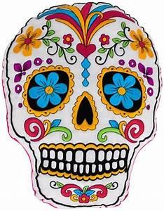 Coussin Tete De Mort : coussin t te de mort mexican skull rock a gogo ~ Teatrodelosmanantiales.com Idées de Décoration