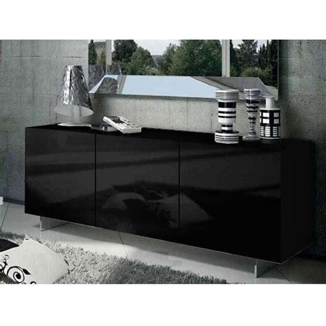 Black Gloss Buffet Sideboard by Oxford 3 Door Sideboard Buffet In Gloss Black 180cm Buy