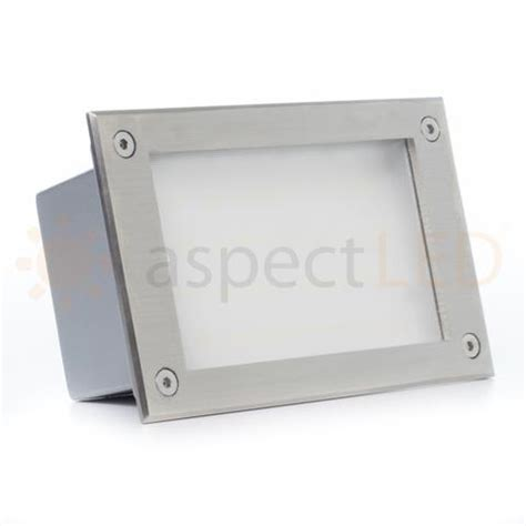 recessed indoor outdoor led in wall light aspectled