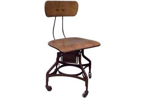 vintage toledo industrial drafting chair steno desk stool