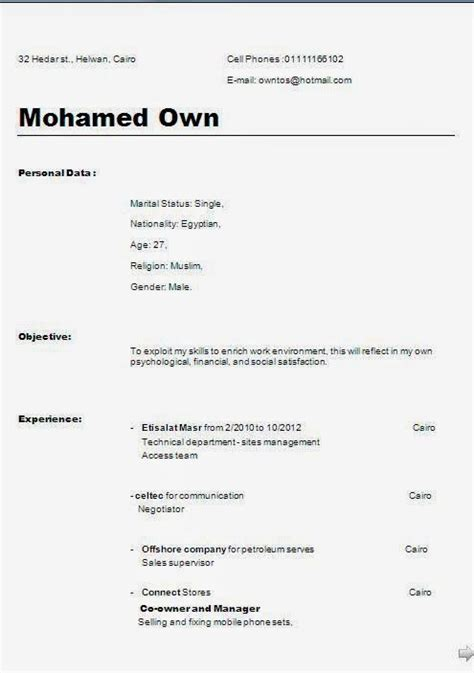 creative professional resumes sle template exle of
