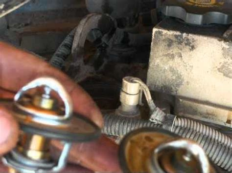 thermostat replacement cummins school bus youtube