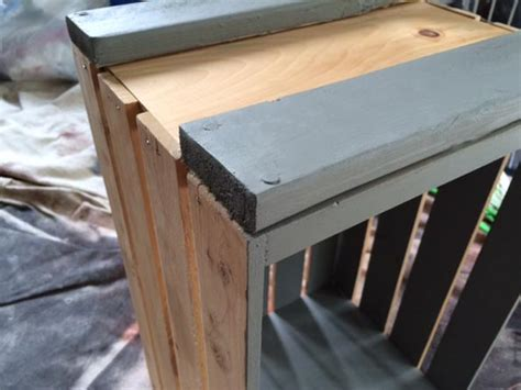 diy wood crate rolling table bench greco design company