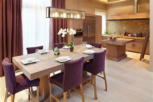 best salle a manger gris et prune images amazing house With chaise salle a manger gris