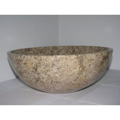 14 inch round vessel sink 14 inch fossil marble bathroom sink round vessel style for
