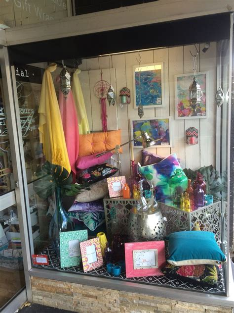 Home Decor Shop Design Ideas by Bright Modern Moroccan Inspired Window Shop Display