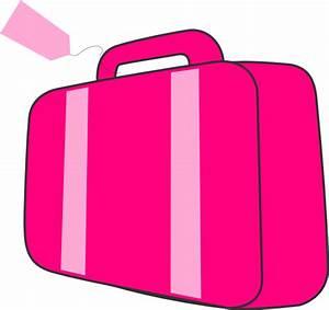 Pink Suitcase Clip Art at Clker.com - vector clip art ...