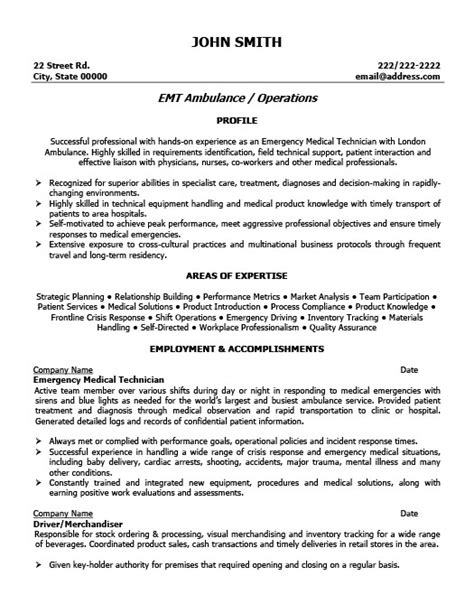 Emt Resume No Experience Template by 10 Emt Resume Cover Letter Writing Resume Sle