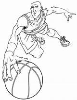 Coloring Basketball College Player Clip Hitman Printable Library Clipart Template sketch template