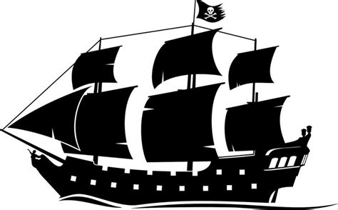 Boat Without Mask Clipart pirate ship drawings silhouette clip search