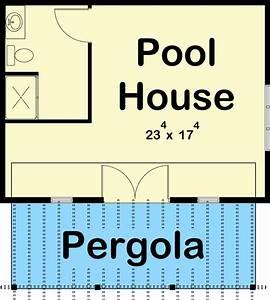 poolhouse, with, pergola, and, full, bath