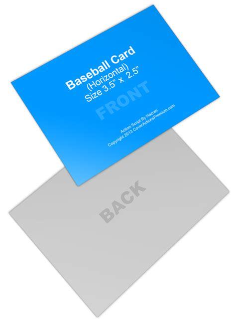 Baseball Card Mock Ups Cover Actions Premium Mockup Mock Ups Cover Actions Premium Mockup Psd Template