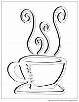 Coloring Tea Cup Coffee Pages Drawing Saucer Printable Clipart Sheet Overflows Getdrawings Template Sketch sketch template