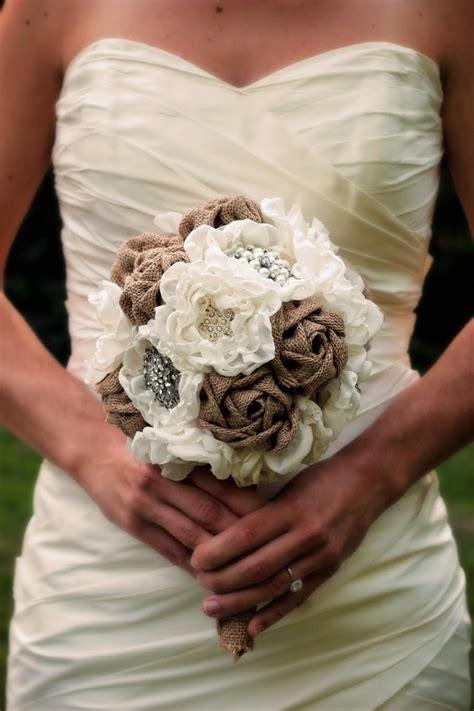 decor burlap wedding bouquet  weddbook
