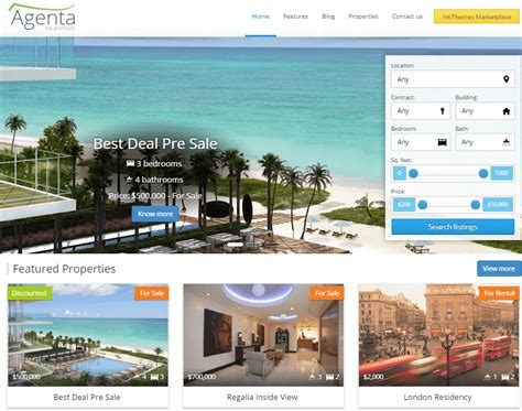 Real Estate Themes 15 Best Real Estate Themes For Agents Inkthemes