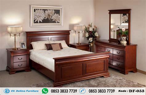 tempat tidur jati jepara model minimalis set kamar harga