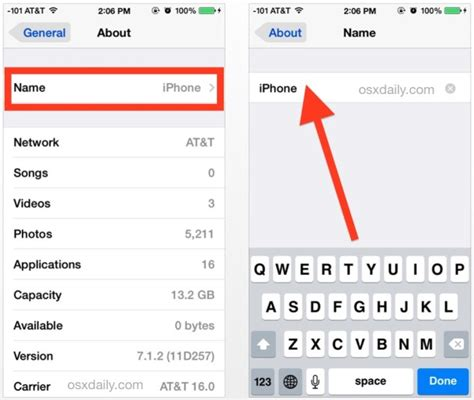 how to rename iphone how to rename an iphone or ipod touch