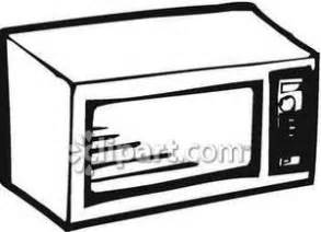 Black and White Microwave - Royalty Free Clipart Picture