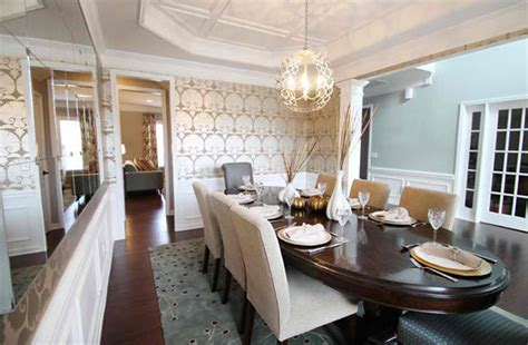 dining rooms  damask wall patterns home design lover
