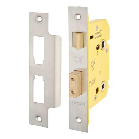 altro bathroom lock mm case mm backset satin stainless ironmongerydirect