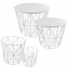 Drahtkorb Tisch Weiß : beistelltische ebay ~ Yasmunasinghe.com Haus und Dekorationen