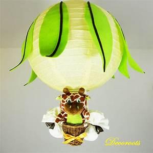 Lustre Montgolfière Bebe : lampe montgolfi re girafe jungle citron juice enfant b b luminaire enfant b b decoroots ~ Teatrodelosmanantiales.com Idées de Décoration