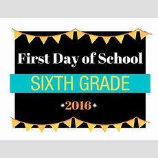 First Day Of School Printable Signs  From Preschool To College