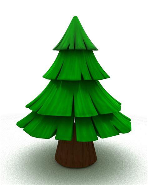 simple pine tree cartoon