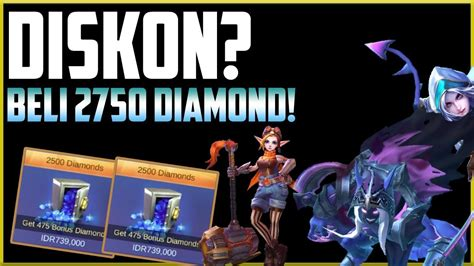 Beli 2750 Diamond Mobile Legend! Borong Diskonannn! Mobile