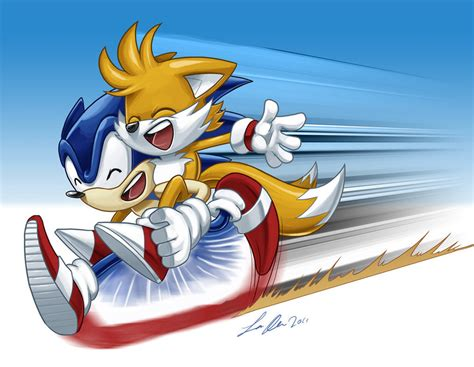 Sonic And Tails By Supacrikeydave On Deviantart