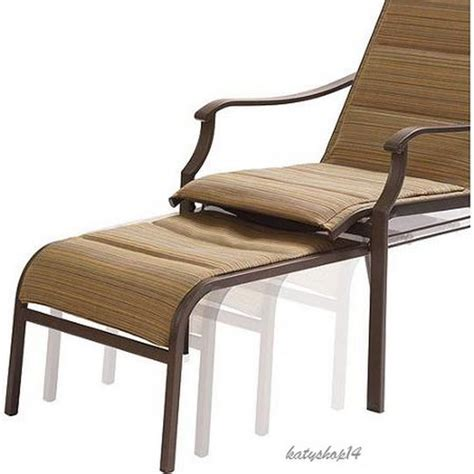 patio chair pull out ottoman padded sling chair reclining