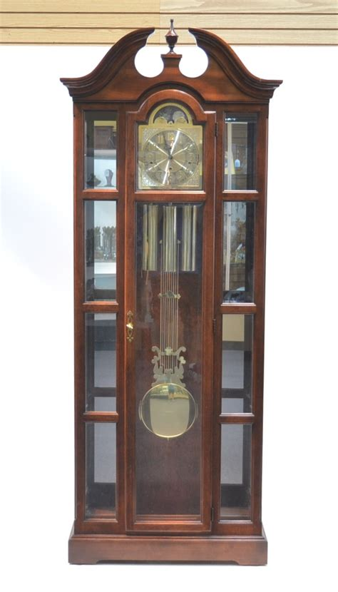 Howard Miller Grandfather Clock Curio Cabinet