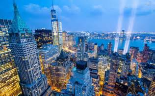 New York City Skyline at Night Wallpaper