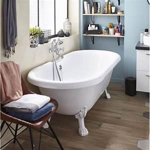 Rideau De Baignoire Leroy Merlin : baignoire lot ovale cm blanc charleston ~ Dailycaller-alerts.com Idées de Décoration