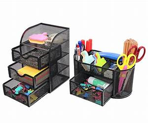 Pag, Office, Supplies, Desktop, Organizers, And, Accessories, Storage, Caddy, With, Drawer, Mesh, Pencil