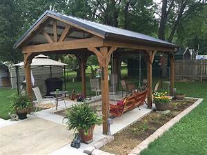 Backyard Pavilion With Fireplace 26627 Hd Pictures
