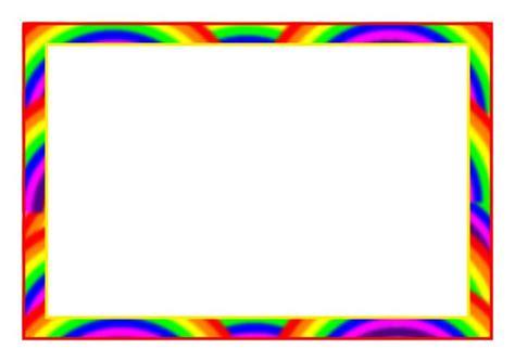 rainbow themed  page borders sb sparklebox