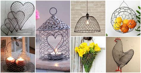 13 spectacular diy chicken wire craft ideas