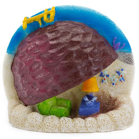 penn plax spongebob patrick s rock home aquarium ornament