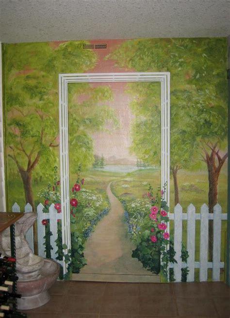ideas for painting garden walls garden mural ideas wall murals pinterest
