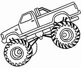 Coloring Monster Truck Printable sketch template