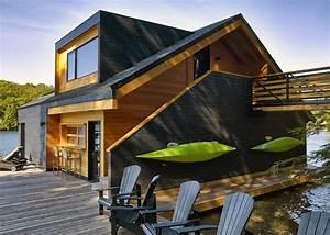 Altius Architecture's Wooden Boathouse Puts a Contemporary