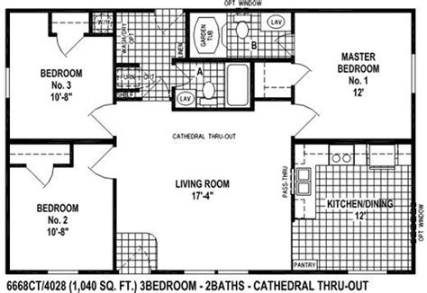 bedroom mobile home floor plans  home plans