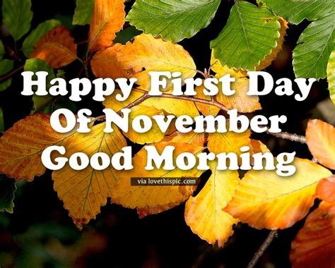 Happy First Day Of November, Good Morning Pictures, Photos ...
