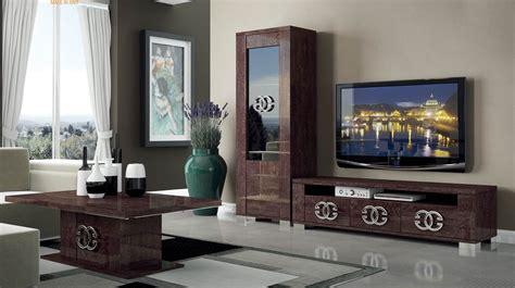 tv racks design walnut brown tv stand with side vitrine shelves hialeah florida esf prestige