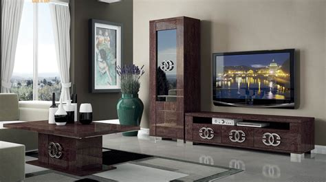 Ideas For On Top Of Kitchen Cabinets - walnut brown tv stand with side vitrine shelves hialeah florida esf prestige