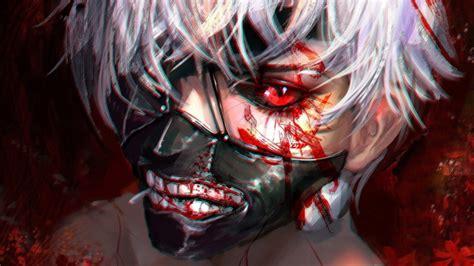 wallpaper ken kaneki red eyes mask tokyo ghoul